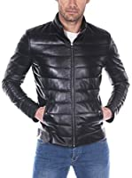 GIORGIO DI MARE Cazadora Piel Men'S Leather Jacket (Negro)