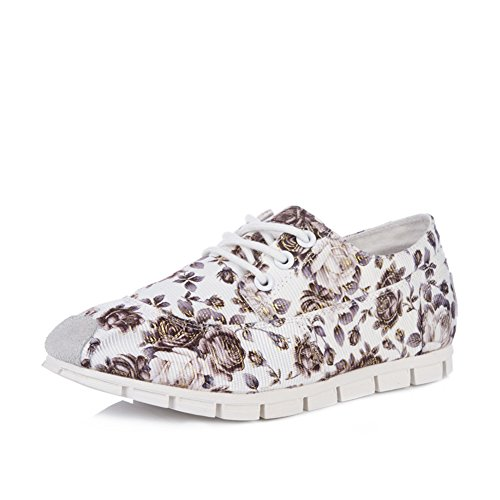 Chaussures d'été ventilation florales fond plat/Folklore étudiant art style chaussures femme/Chaussures sweet Formosa