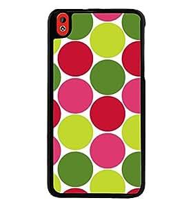 Printvisa Multicoloured Circular Pattern Back Case Cover for HTC Desire 816::HTC Desire 816 G