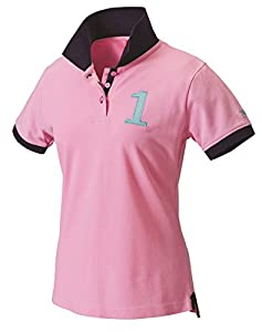 Tottie Women's Thornton Short Sleeve Polo Top - Pink, Large