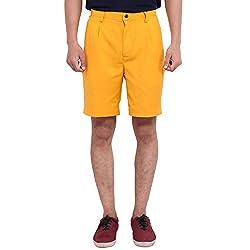 FBBIC Smart Yellow Men's Solid Short(Size::XL)