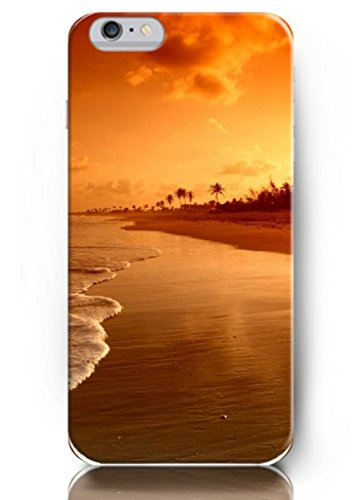 Ouo New Unique Vintage Hard Cover For 4.7 Inch Iphone 6 Case Palm Trees And Sea