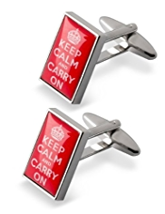 Keep Calm & Carry On Cufflinks