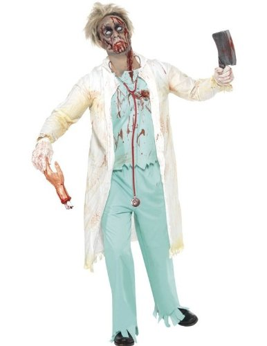 Smiffys Men's Zombie Doctor Costume