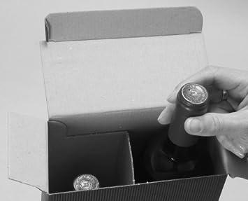 3 Flaschen - Rustikal Flaschenkarton 10 x Weinkarton Weinverpackung
