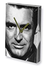 CARY GRANT - Canvas Clock (A5 - Signed by the Artist) #js002