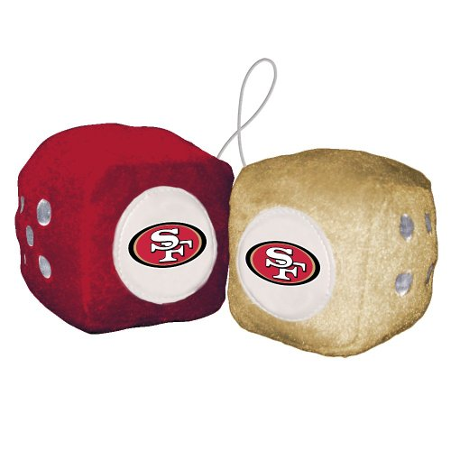 Nfl San Francisco 49Ers Fuzzy Dice front-333437