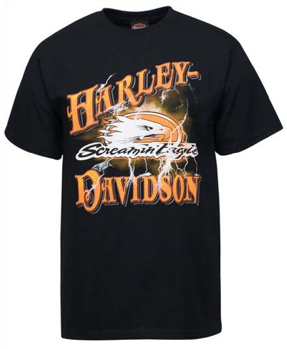 Harley-Davidson Men's Screamin' Eagle Lightning Black T-Shirt HARLMT0155