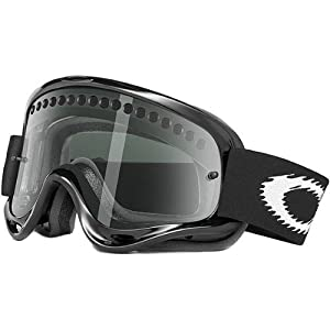 Oakley MX O Frame Adult Dirt Off-Road Motorcycle Goggles Eyewear - Jet Black/Dark Grey / One Size Fits All