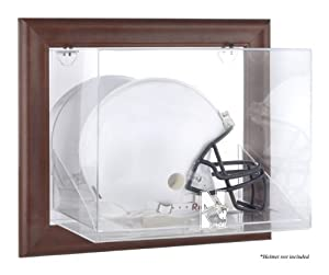 Northwestern Wildcats Brown Framed Wall Mountable Helmet Display Case by Sports Memorabilia