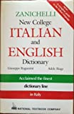 img - for Zanichelli New College Italian and English Dictionary book / textbook / text book