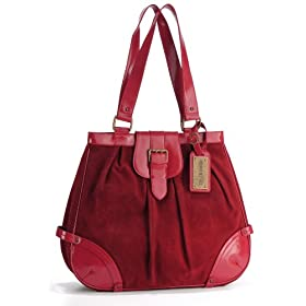 Timi and Leslie Ruby Suede Convertible Baby Bag