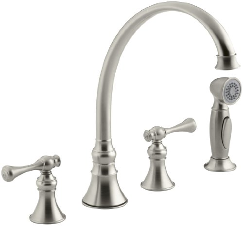 KOHLER K-16109-4A-BN Revival Kitchen Sink Faucet, Vibrant Brushed Nickel (Kohler Kitchen Faucet Nickel compare prices)