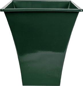 large green square metallic plastic plant pot kitchen
