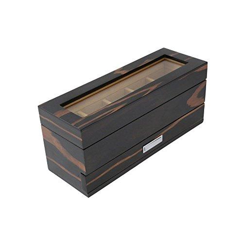 bey-berk-ebony-5-watch-case-with-accessory-drawer-1225w-x-535h-in