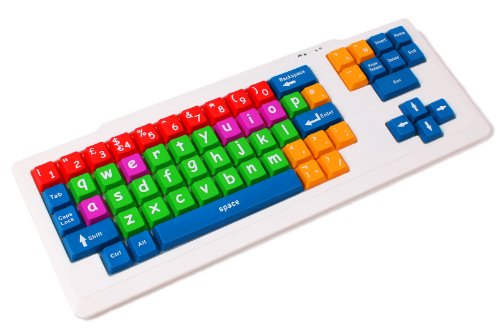 "Duragadget Colourful ""Kid'S Proof"" Childrens, Special Needs Or Sight Impared Pc Keyboard Ps2/Usb - Great For Teaching / Learning front-970868"