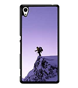 Skiing 2D Hard Polycarbonate Designer Back Case Cover for Sony Xperia Z3+ :: Sony Xperia Z3 Plus :: Sony Xperia Z3+ dual :: Sony Xperia Z3 Plus E6533 E6553 :: Sony Xperia Z4
