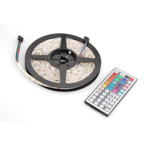 Croled 16.4Ft Led Strip Light Rgb Color Changing Waterproof 300X 5050 Smd With 44 Keys Remote Controller