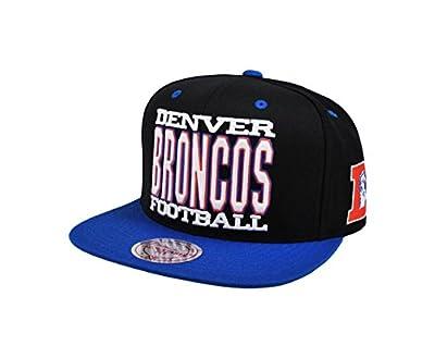 Mitchell & Ness NFL HAT Denver Broncos Black and Royal Blue XL Type Snapback Cap