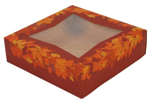 Southern Champion Tray 2462 Kraft Paperboard Autumn Design Print Window Bakery Box, 9