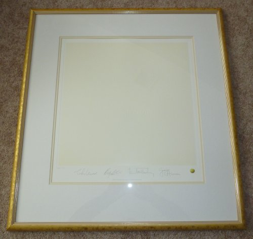 THE BEATLES The White Album RECORD ART Framed Album LP Cover Print Lithograph PLATE SIGNED