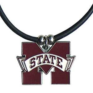 NCAA Mississippi State Bulldogs Rubber Cord Necklace by Siskiyou Sports