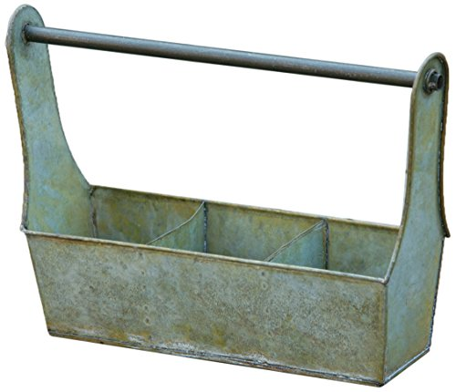 Your Hearts Delight Grungy 3-Section Tool Box, 13-1/2 by 4 by 9-1/2-Inch, Green