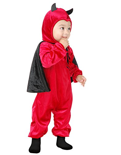 Toddler Darling Devil Costume in Crushed Panne' Velvet
