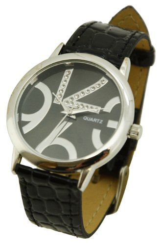 Xoyo Women'S Analog Stylish Fashion Dress Watch - Black - Great Gift Idea! front-795170