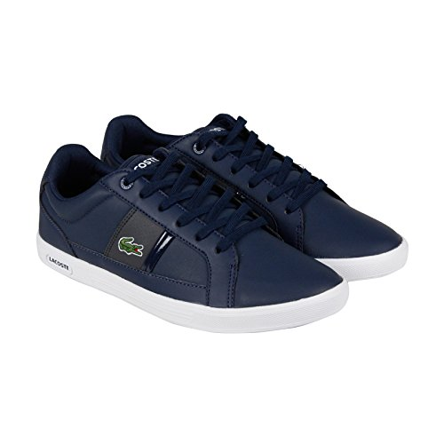 Lacoste Men's Europa Lcr3 Spm Fashion Sneaker Fashion Sneaker, Navy/dark Grey, 9 M US
