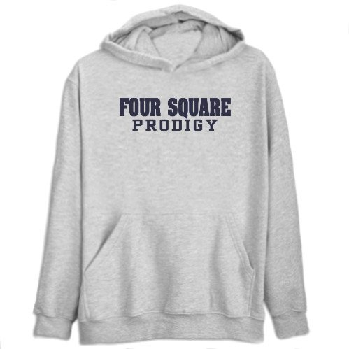 Four Square Prodigy Sports Mens Hoodie (Heather Gray, Size Large)