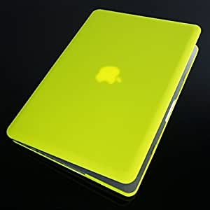 """Moca(Tm) Macbook Pro 13-Inch With Retina Display Case Cover {Neon Yellow} Rubberized Coating Free Keyboard Guard, Hard Case Cover For Macbook Pro 13"""" 13.3"""" 13-Inch With Retina Display Shell Cover Case Snap On Cover"""