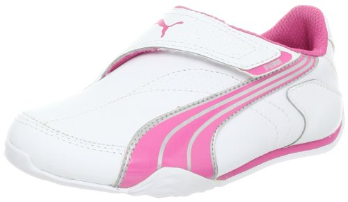 PUMA Jiyu 2 NM V Fashion Sneaker (Toddler/Little Kid/Big kid),White/Azalea Pink/Puma Silver,6 M US Toddler