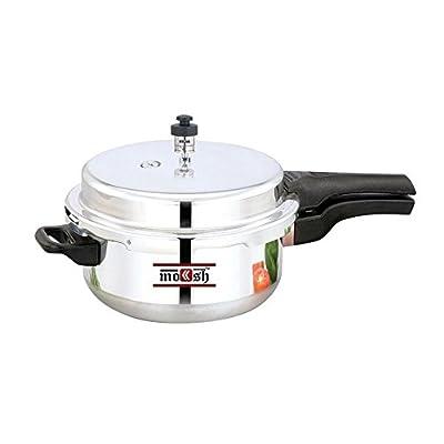 Moksh Pressure Cooker, Xtra Deep Pan,Silver