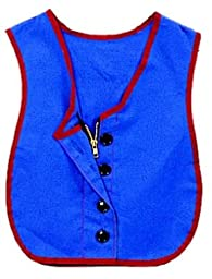 Childrens Factory CF361-319 Manual Dexterity Vest, Button-Zipper Combo, Cotton Polyester