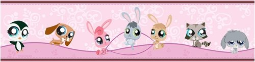 RoomMates RMK1189BCS Littlest Pet Shop Peel & Stick Border