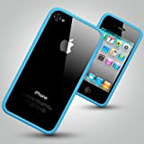 iPhone 4S Bumper Style Case - Blue Rim Bumper Case with stylish chrome buttons for the iPhone 4S - accessories for mobile phones by OLIVIASPHONESby OLIVIASPHONES