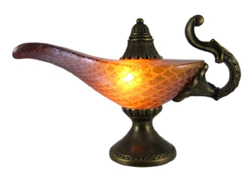 Amber Glass Aladdin Genie Accent