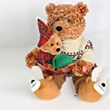Story Telling Battery Powered Christmas Bear (28cm)