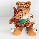 Story Telling Battery Powered Christmas Bear (28cm)