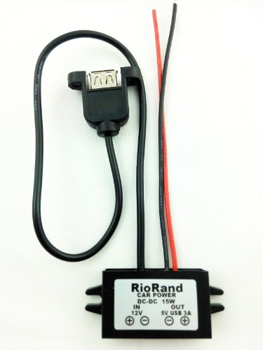 Riorand(Tm) Dc To Dc Step Down Converter Inverter 12V To 5V 3A 15W Power Supply For Car Vehicle With Fixed Usb front-179891