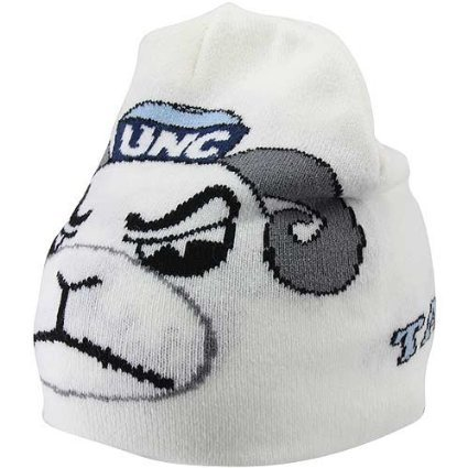 North Carolina Tarheels NCAA Large Mascot Winter Beanie Hat (White) at Amazon.com