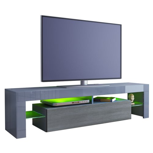 TV Stand Unit Lima in Grey / Avola-Anthracite Black Friday & Cyber Monday 2014