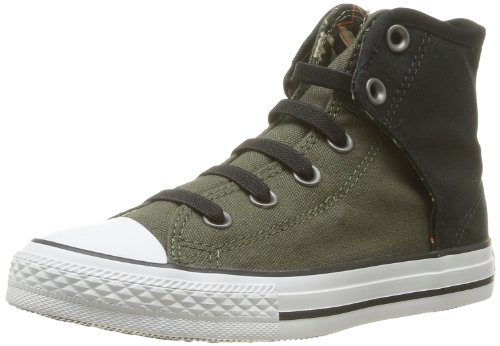 CONVERSE Unisex-Adult Chuck Taylor All Star Easy Slip On Canvas Camo Trainers 207686-34-63 Vert Olive/Noir 2.5 UK, 34 EU