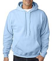 Gildan Mens 7.75 oz. Heavy Blend? 50/50 Hood (G185) -LIGHT BLUE -S