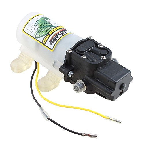 AGPtek® DC 12V 45W 3.6L/min Micro Diaphragm Water Pump Automatic Switch with High Pressure 30m Lift (Dc High Pressure Water Pump compare prices)