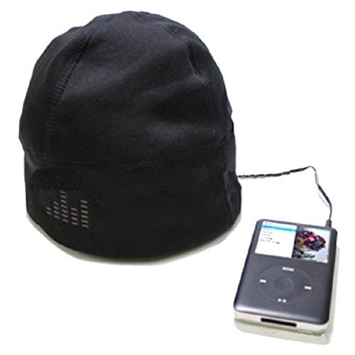 Musicell Plush Knitted Acrylic Material Beanie Hat With Headphones Hat Earphones Hat Headset I-Hat Color Blue Black Pink White Optional Or Black Default (Medium - One Size Fits Most)