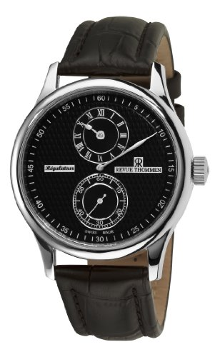 Revue Thommen 16065.2537 42mm Automatic Stainless Steel Case Black Leather Anti-Reflective Sapphire Men's Watch