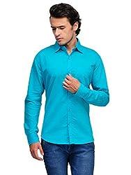 Harvest Torqoise 100 % Cotton Shirt for Men