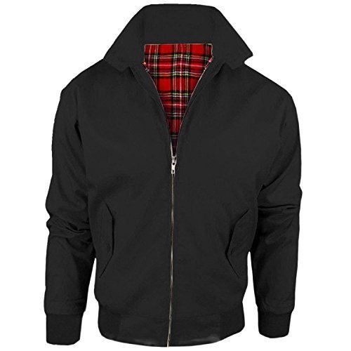 myshoestore-vintage-chaqueta-harrington-unisex-adulto-hombre-mujer-harrington-clasico-retro-scooter-